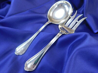 Towle Old Newbury Sterling Silver Salad Server Set - Excellent Condition M Gw