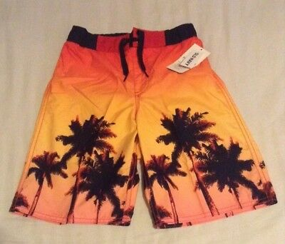 NWT Boys Old Navy Tropical Print Swim Trunks Yellow-Multi color Size 8!!