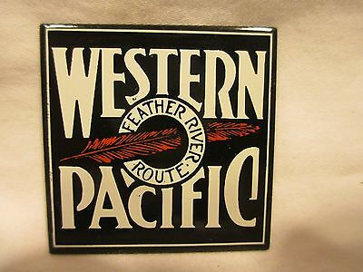 Wp Railroad Porcelain Enamel Steel Sign Nearly 30 Years Old Mint Condition