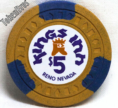 $5 Five Dollar Poker Gaming Chip Kings Inn Hotel Casino Reno Nevada 1975-1982