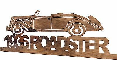 1936 Ford Roadster Handmade Wooden Decorative Plaque