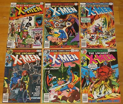 1978 X-Men 6 Books No. 111 VG/F 5.0, 112 VG/F 5.0, 113 F- 5.5, 114, 115, 116 NR