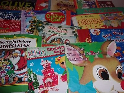 Lot of 25 Christmas Picture Books  Advent Holiday Countdown Santa Rudolph Dora