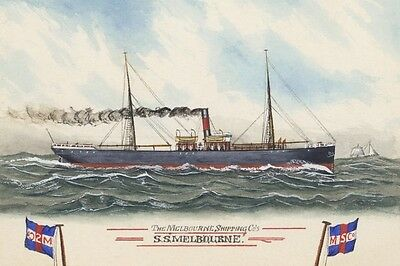 BEESWING of the Melbourne Shipping Co Watercolour Art Modern Digital Postcard