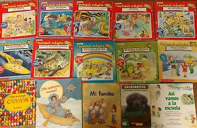 Lot of 30 Spanish Espanol Learn to Read Children Kids Picture ESL Book MIX #B55
