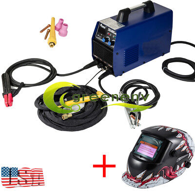 200AMP 2in1 Inverter Welder TIG ARC Welding Machine w/Cooling & Welding Helmet