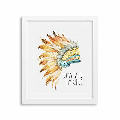 Frame Included | Baby Nursery Wall Art Print 8x10"