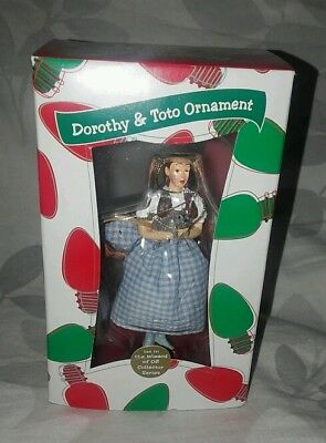 Wizard of OZ Dorothy and Toto Ornament Rare WB MIB Look :)