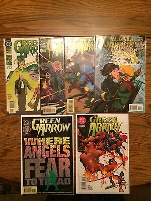 Green Arrow Lot 96-101 NM Avg Or Better Death Of Oliver Queen Arrow 1995 Nice!!