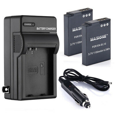 EN-EL12 Battery+Charger For Nikon Coolpix AW110 AW100 S6000 S6300 S8000 S9200
