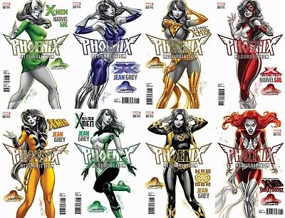 Phoenix Resurrection Return Of Jean Grey 1 J Scott Campbell Variant 8 Pack Set