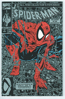 Spider-Man #1 (Aug 1990, Marvel), MCFARLANE, SILVER, 9.6 NM+, HI-RES SCANS!