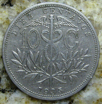 Bolivia  1935 10 Cents Coin Very Nice Km# 179.1