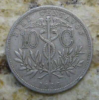 Bolivia  1936 10 Cents Coin Very Nice Km# 179.1