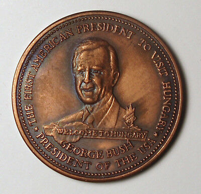 1989 President George H. W. Bush Visit to Hungary Medal
