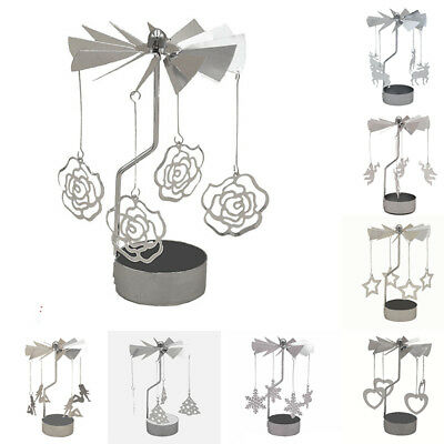 Rotating Spinning Carrousel Tea Light Candle Holder Center Christmas XMAS Decor