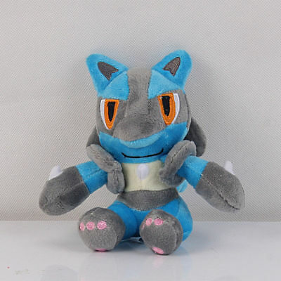 Pokemon Center Lucario Rukario Plush Toy Doll Stuffed Figure Collection Gift 6""