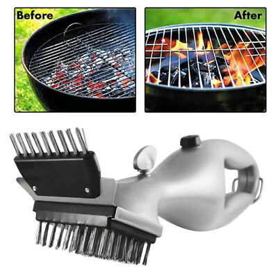 Durable Barbecue Cleaner BBQ Steam Powered Cleaning Brush Stainless Steel T7RE