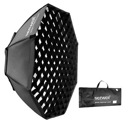 "Neewer 37"" Bowens Mount Portable Octagon Beehive Softbox with Grid + Diffuser"
