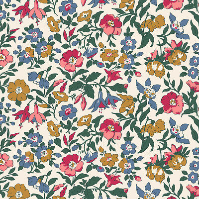 Mamie Pink Blue Floral The English Garden Liberty Fabric FQ + More 100% Cotton