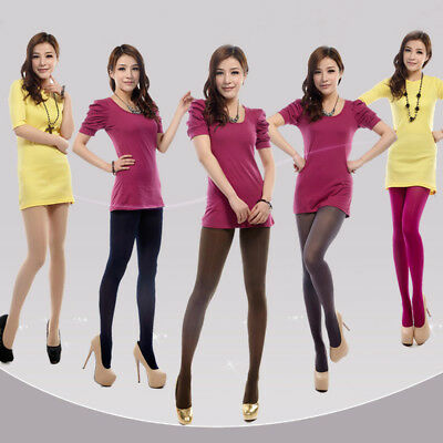 Women Solid Color Thick Stockings Pantyhose Tights Opaque Footed Socks New
