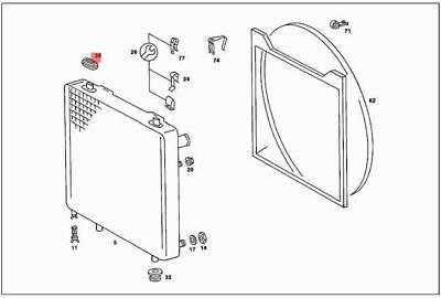 Genuine Rubber Mounting MERCEDES S202 2025041512