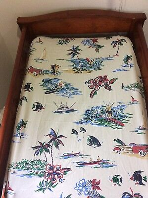 Change Mat Cover/Fitted Bassinet Sheet -  Nautical