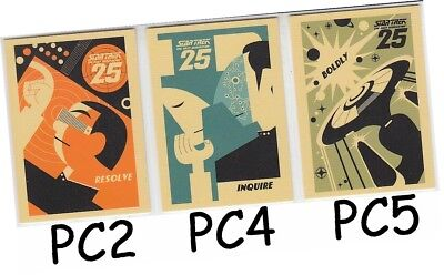 "Star Trek TNG Heroes & Villains - ""25th Anniversary Posters"" Cards PC2, PC4, PC5"