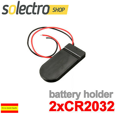 Portapilas 2x CR2032 Interruptor BATERÍA PILA BOTON ARDUINO BATTERY HOLDER PP23