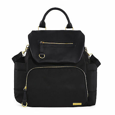 SKIP*HOP® Chelsea Downtown Chic Diaper Backpack in Black Brand New