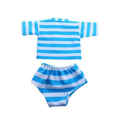 T-shirt Tops & Panties for 18'' American Girl Our Generation Doll Light Blue