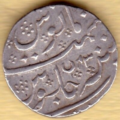 French India Silver 1 Rupee Ah1218 Ry43 #w31