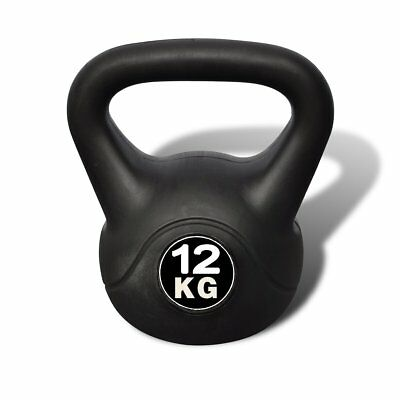 Kettle Bell 12KG Training Weight Fitness Home Gym Exercise Kettlebell Dumbbell
