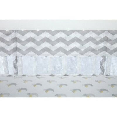 OpenBox Little Love by NoJo Separates Collection Chevron Print Crib Liner, Grey/