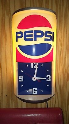 Pepsi Can Light Up Clock Vintage Man Cave