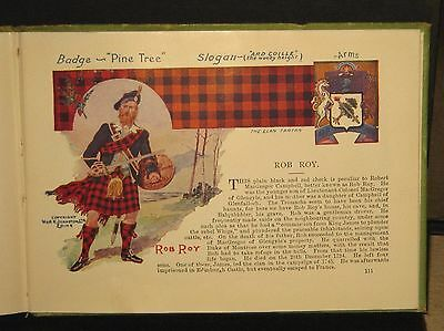 """Brilliant 1935 """"The Scottish Tartans"""" with Badges & Coats of Arms of the Clans"""