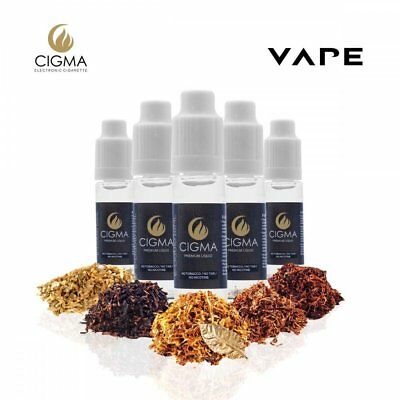 Cigma Worldwide Tobacco Flavour Mix Pack E Shisha E Juice 5 x 10ml Flasche