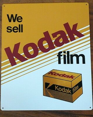 Kodak Camera 10 X 12 metal sign photography vintage look advertising S06