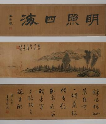 Rare Fine Antique Chinese Wang Zongheng Mark Hand Painting Scroll