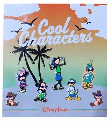 2012 Disney Cool Characters Mini-Pin Collection Set of 7 Pins Rare W7