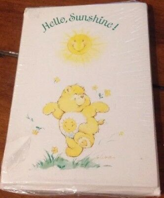 Vintage Care Bears Sunshine Bear Memo Note Cards NIP