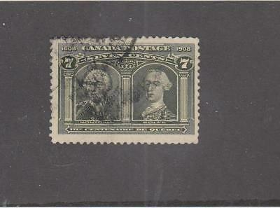 CANADA  (LOT MK651)  #100  FVF  7cts  MONTCALM & WOLFE CAT VALUE $90