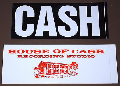 JOHNNY CASH The Legend & House of Cash Personal File Set of 2 Promo Stickers