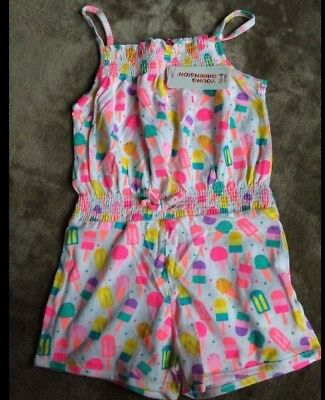 Girls Ice lolly/ Ice cream Short Playsuit NWT 4-5 Years