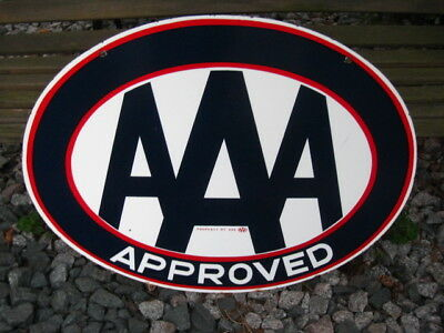 """Vintage Original AAA Porcelain Double sided sign 30"""" X 23"""""""