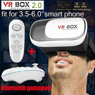 A03 3D Glasses 2nd Gen VR-BOX Headset Cardboard Virtual Reality For Phone+Remote