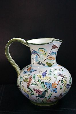 Vintage Denby hand painted Glyn Colledge stoneware Jug or Pitcher (1960s)
