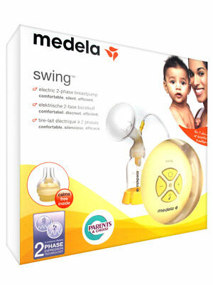 medela swing single electric 2 phase  breast pump with calma RRP £135