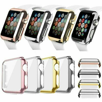 Apple Watch 38/42MM  40/44MM Full Body Cover Snap On Case + Screen Protector
