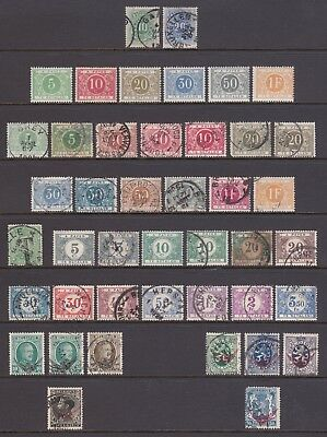 old Belgium stamps: 1870-1940 collection of Postage Dues and Officials